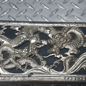 Metal dragon jewelry box